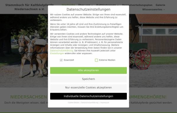 Vorschau von www.kaltblutpferde-nds.de, Stammbuch für Kaltblutpferde Niedersachsen e.V.