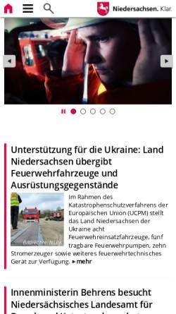 Vorschau der mobilen Webseite www.feuerwehrschulen.niedersachsen.de, Nds. Akademie für Brand- und Katastrophenschutz