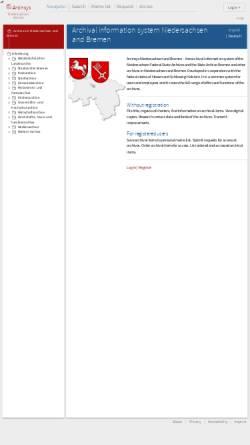 Vorschau der mobilen Webseite archivportal.niedersachsen.de, Archivportal Niedersachsen