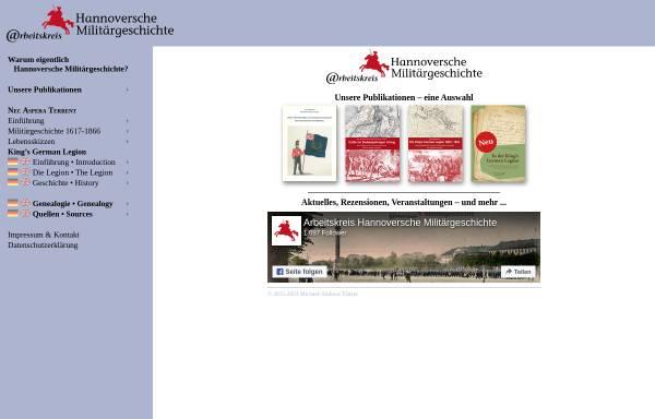 Vorschau von www.kgl.de, Arbeitskreis Hannoversche Militärgeschichte