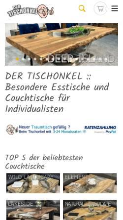 Vorschau der mobilen Webseite www.tischonkel.de, Gerken Naturstein & Wohndesign
