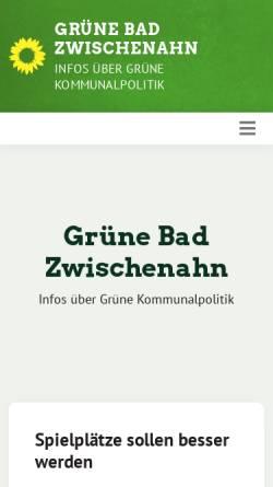 Vorschau der mobilen Webseite gruene-zwischenahn.de, Bündnis90/Die Grünen