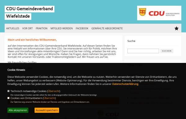 Vorschau von cdu-wiefelstede.de, CDU Gemeindeverband Wiefelstede