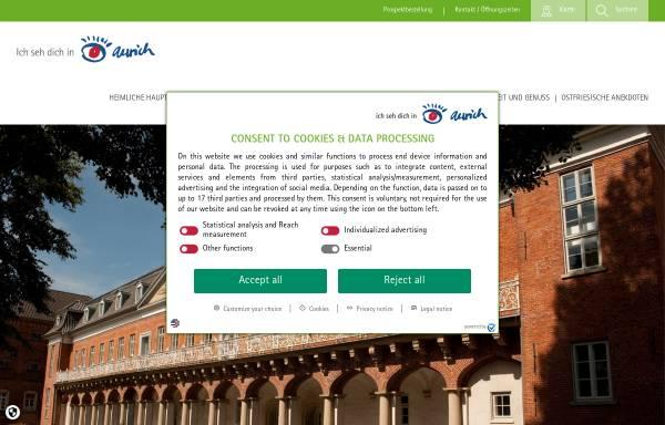 Vorschau von www.aurich-tourismus.de, Verkehrsverein Aurich / Ostfriesland e.V.