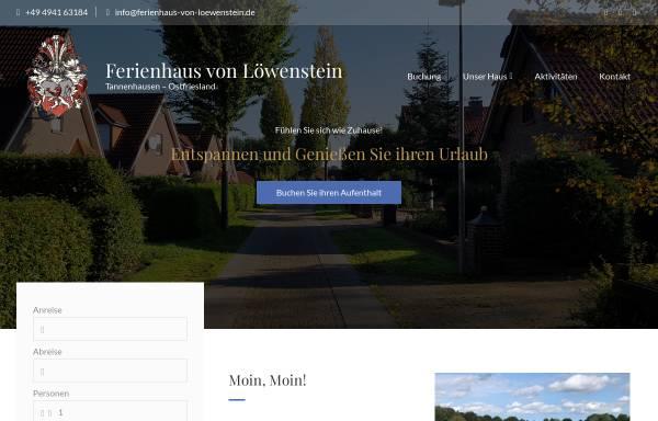 Vorschau von www.ferienhaus-von-loewenstein.de, Ferienhaus von Löwenstein