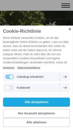 Vorschau der mobilen Webseite www.ferienhofbrockzetel.de, Ferienhof Brockzetel