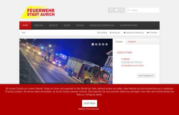 Vorschau von www.feuerwehr-aurich.de, Freiwillige Feuerwehr Aurich