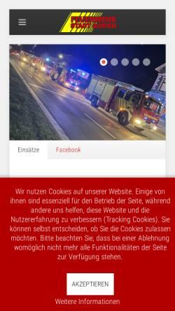 Vorschau der mobilen Webseite www.feuerwehr-aurich.de, Freiwillige Feuerwehr Aurich