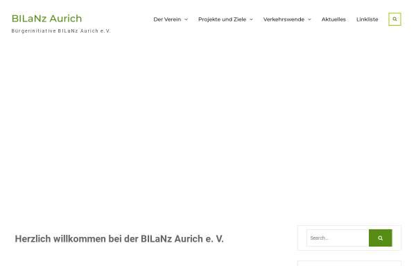Vorschau von www.bilanz-aurich.de, Bürgerinitiative BILaNz Aurich e.V.