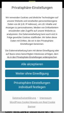 Vorschau der mobilen Webseite www.bilanz-aurich.de, Bürgerinitiative BILaNz Aurich e.V.