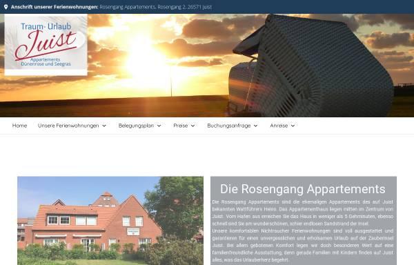 Vorschau von www.traum-urlaub-juist.de, Ferienwohnungen Kalkuhl