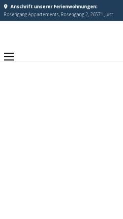 Vorschau der mobilen Webseite www.traum-urlaub-juist.de, Ferienwohnungen Kalkuhl