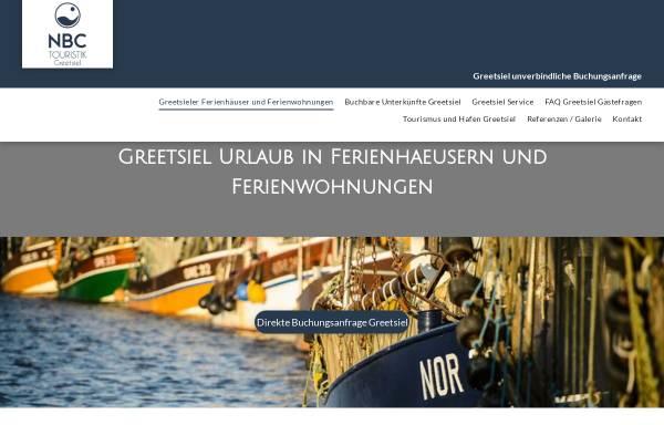 Vorschau von www.greetsiel-nordsee.org, NBC Touristik und Ferienimmobilien Service