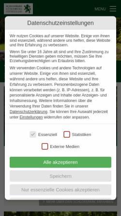 Vorschau der mobilen Webseite www.schlosspark-luetetsburg.de, Schlosspark Lütetsburg