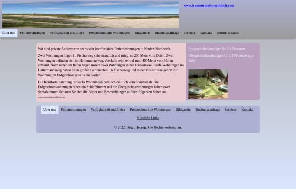 Vorschau von www.traumurlaub-norddeich.com, Traumurlaub-Norddeich.com