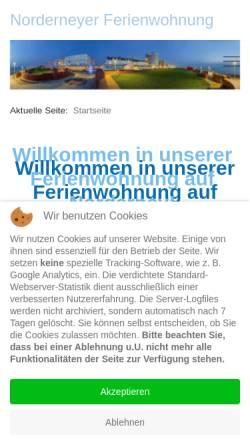 Vorschau der mobilen Webseite www.norderneyer-ferienwohnung.de, Ferienwohnung Thiemann