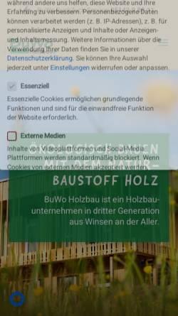 Vorschau der mobilen Webseite www.buwo-holzbau.de, Bussmann & Wolters Holzbau GmbH & Co. KG