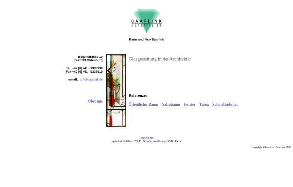 Vorschau von www.baarlink.de, Glasatelier Baarlink