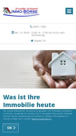 Vorschau der mobilen Webseite www.immo-boerse.org, Immo-Börse