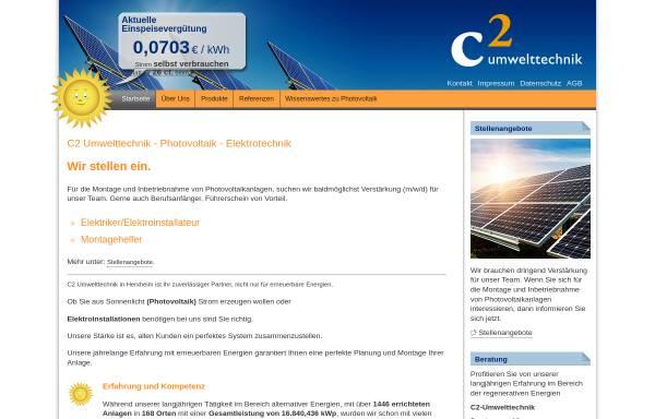Vorschau von www.c2-umwelttechnik.de, C2-Umwelttechnik GmbH