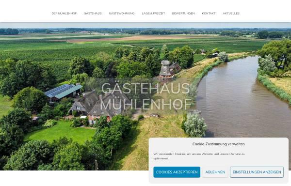 Vorschau von www.gaestehaus-muehlenhof.de, Gästehaus Mühlenhof