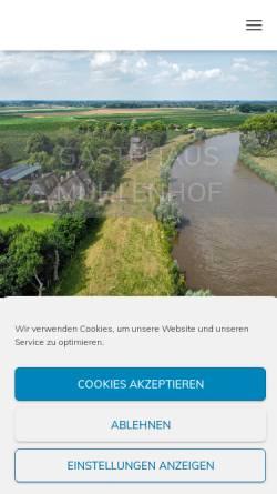 Vorschau der mobilen Webseite www.gaestehaus-muehlenhof.de, Gästehaus Mühlenhof