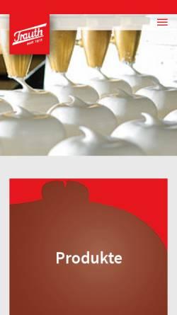 Vorschau der mobilen Webseite www.trauth-herxheim.de, Eugen Trauth & Söhne