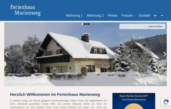 Vorschau von www.ferienhaus-marienweg.de, Ferienhaus Liesen [Liesen, Frank]
