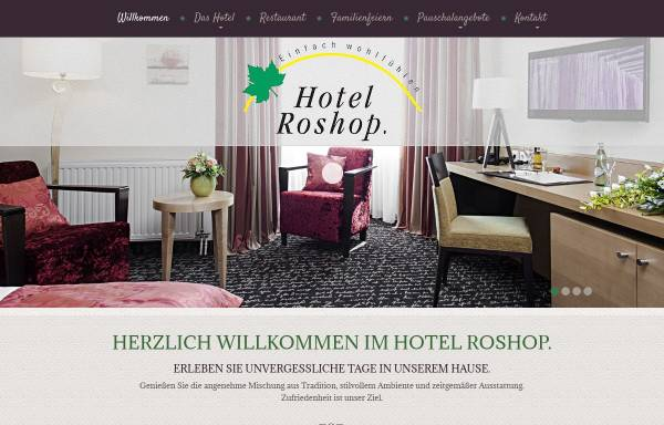 Vorschau von www.hotel-roshop.de, Hotel Roshop