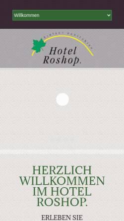 Vorschau der mobilen Webseite www.hotel-roshop.de, Hotel Roshop