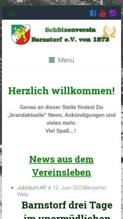 Vorschau der mobilen Webseite www.schuetzenverein-barnstorf.de, Schützenverein Barnstorf e.V. von 1873