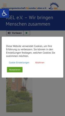 Vorschau der mobilen Webseite www.igel-barnstorf.de, Gesundheitsladen Igel