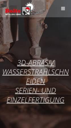 Vorschau der mobilen Webseite wasserstrahlschneiden-niedersachsen.com, Bolte Metallbau GmbH