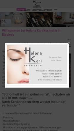 Vorschau der mobilen Webseite www.hkkosmetik.de, Helena Kari - Kosmetik