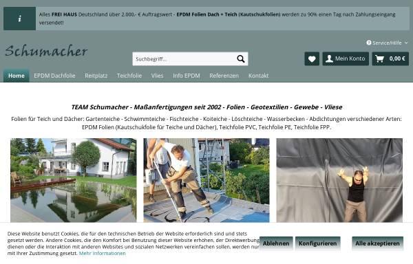 Vorschau von www.teichfolie-schumacher.de, Technische Folien Schumacher