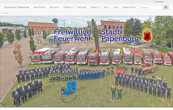 Vorschau von www.feuerwehr-obenende.de, Freiwillige Feuerwehr Papenburg-Untenende