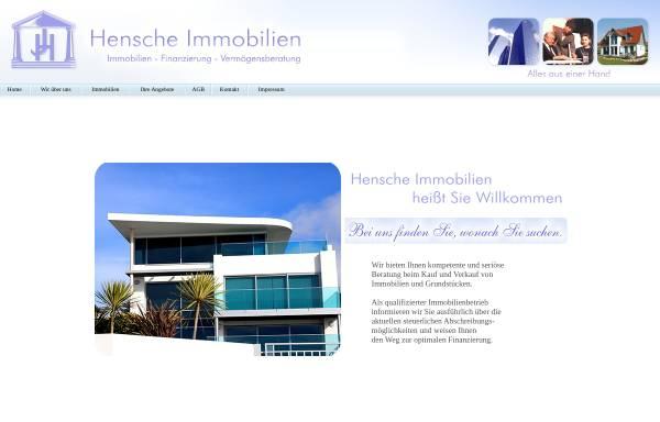 Vorschau von www.hensche-immobilien.de, Hensche Immobilien