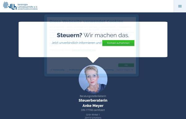 Vorschau von www.vlh.de, Vereinigte Lohnsteuerhilfe e.V.