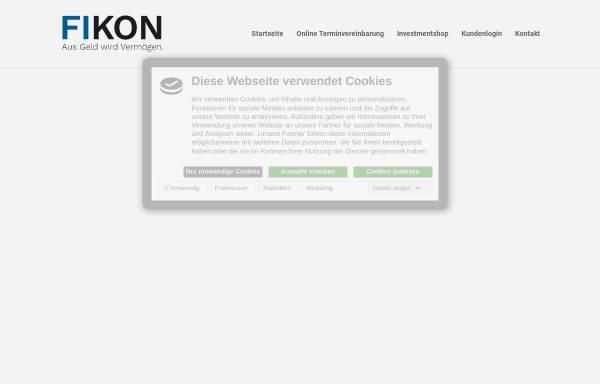 Vorschau von www.fikon.de, fikon Finanz-Konzepte GmbH