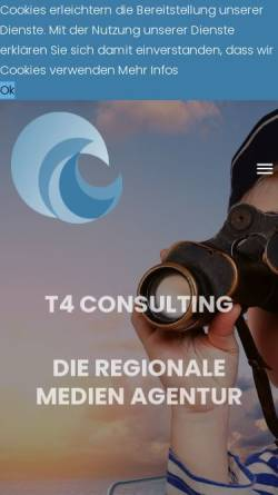 Vorschau der mobilen Webseite www.t4-consulting.de, T4 Consulting