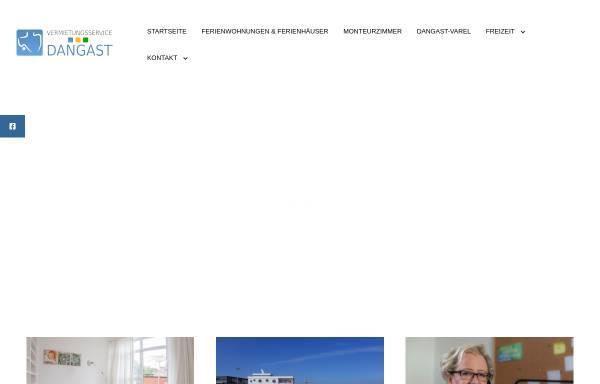 Vorschau von www.vermietungsservice-dangast.de, Vermietungsservice Dangast