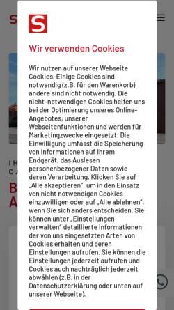 09fa141e2330c1 ... Schuh und Vorschau der mobilen Webseite www.schuhhaus-salge.de
