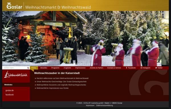 Vorschau von www.weihnachtswald.de, Goslar Weihnachtsmarkt und Weihnachtswald