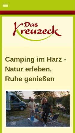 Vorschau der mobilen Webseite www.camping-harz.com, Das Kreuzeck