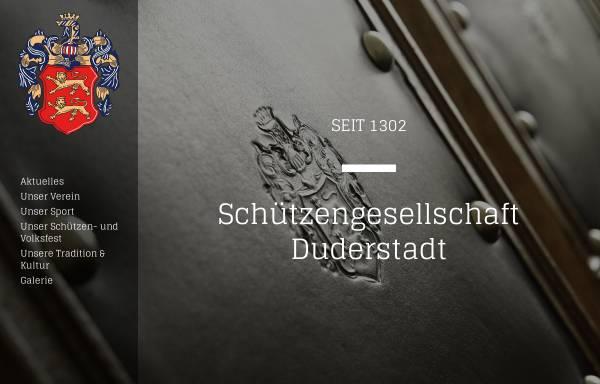 Vorschau von www.schuetzengesellschaftduderstadt.de, Schützengesellschaft Duderstadt seit 1302