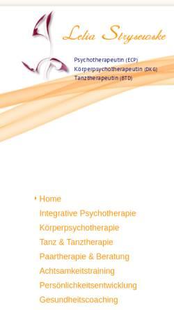 Vorschau der mobilen Webseite www.strysewske.de, Lelia Strysewske