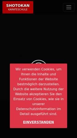 Vorschau der mobilen Webseite www.shotokan-goe.de, Shotokan Göttingen e. V.