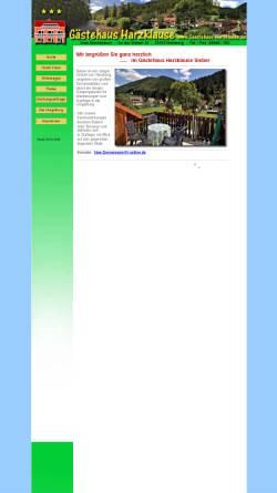 Vorschau der mobilen Webseite www.gaestehaus-harzklause.de, Gästehaus Harzklause - Uwe Sonnemann