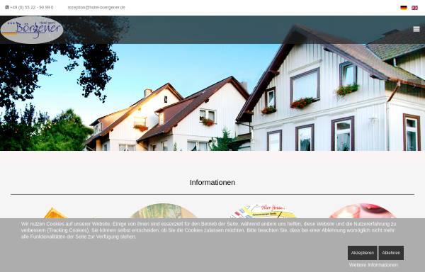 Vorschau von www.hotel-boergener.de, Hotel Börgener - Inh. Eva Tolle e.K.