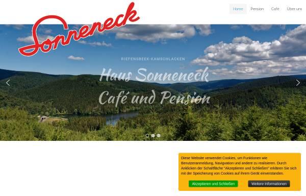 Vorschau von www.sonneneck-pension.de, Haus Sonneneck Pension-Café - Marcel Dawal